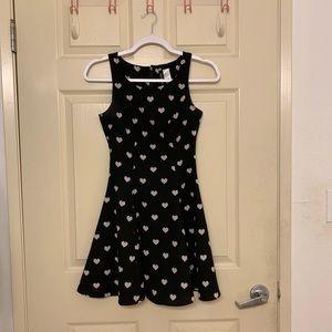 H&M Divided - black heart skater dress